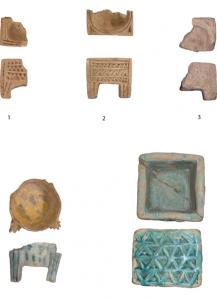 Brûle-parfums en céramique provenant de Suse conservés au Musée du Louvre. (c) Le Maguer.
