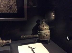 Brûle-parfum cylindrique, bronze, Iran (ca. XIIe - XIIIe s.)