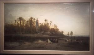 Campement des cavaliers arabes près de Tlemcen, Honré Boze, 1872.